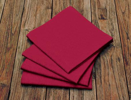 2 serviettes de table rouge Table d'hôtes