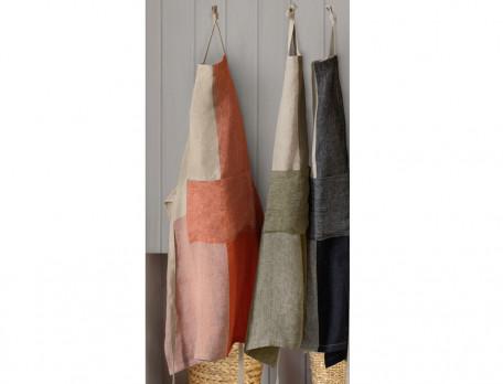 Tablier tissé-teint Carreaux de lin