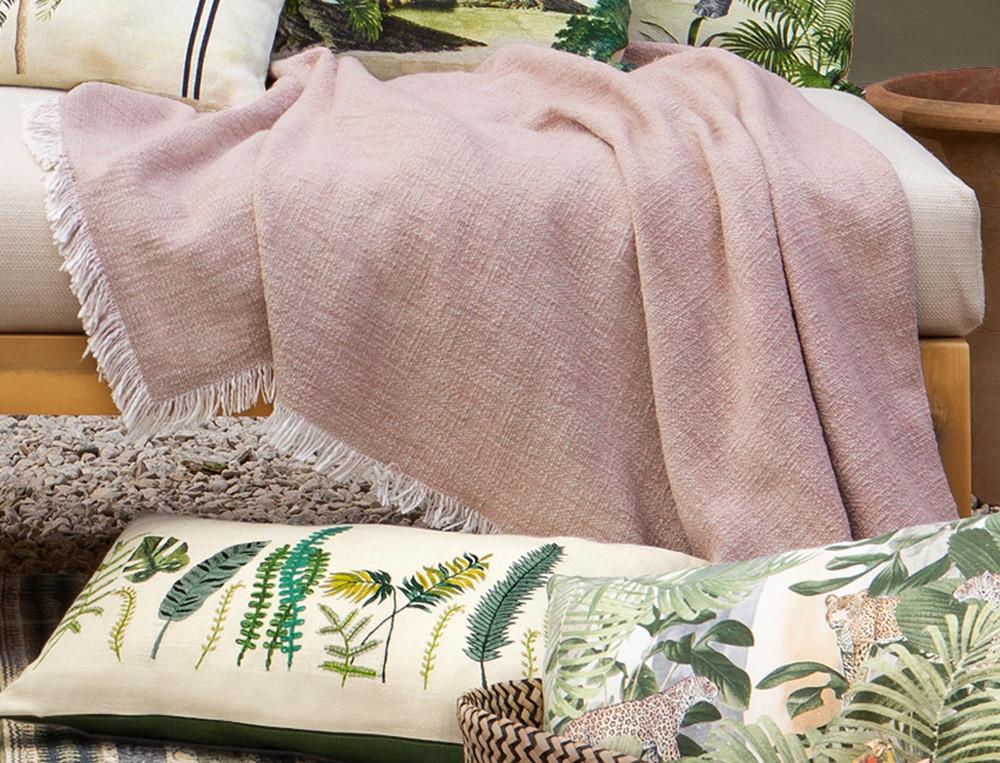 Tagesdecke Sofaüberwurf Kenia Linvosges