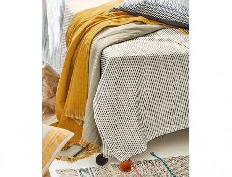 Tagesdecke Sofaüberwurf Stilsicher Baumwolle Linvosges