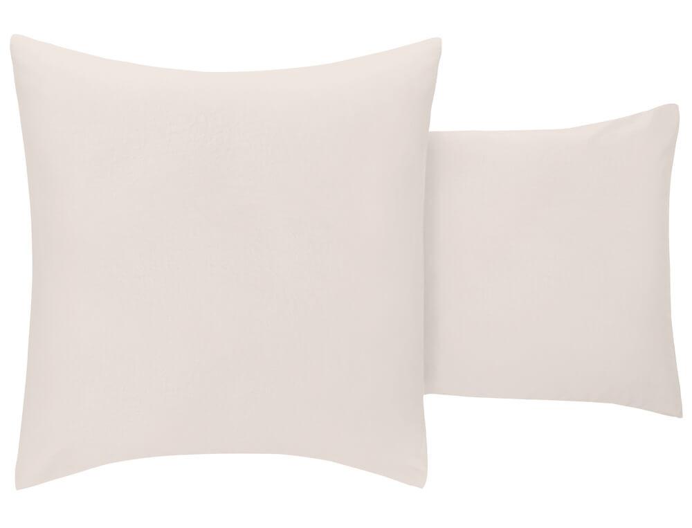 Taie d'oreiller percale imprimée dos blanc naturel À la folie