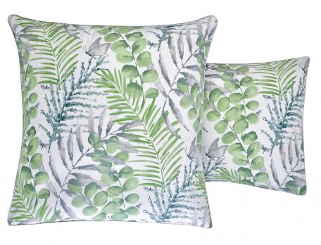 Taie d'oreiller percale imprimée des 2 côtés Chlorophylle