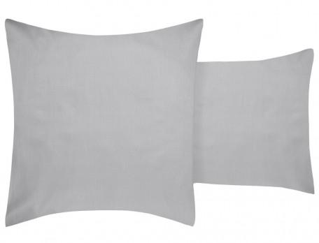 Taie d'oreiller satin imprimée rayures et dos gris Couleurs Boréales