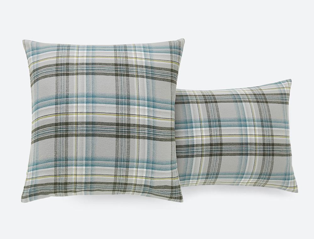 Taie d'oreiller écossais tissé-teint Matin d'hiver
