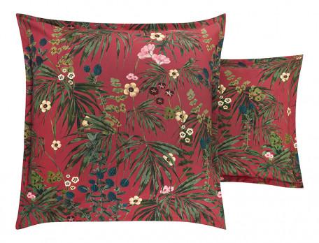 Taie d'oreiller percale coton imprimé végétal Éloge floral