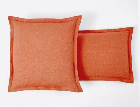 Taie d'oreiller unie tissé-teint carrée ou rectangulaire Flanelle