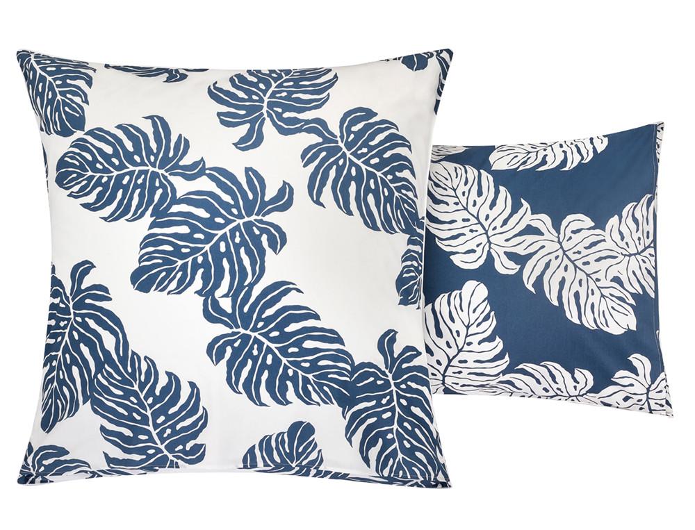 Taie d'oreiller percale imprimée feuilles de palmier Les alizés