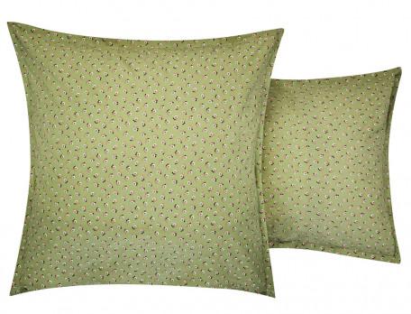 Taie d'oreiller percale imprimée cachemire et petits motifs Les Baux de Provence