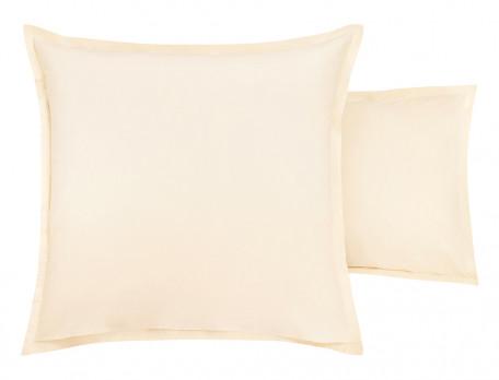 Taie d'oreiller percale lavée 100% coton brodée Mascarpone