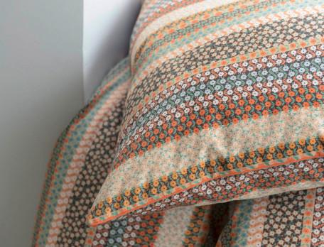 Taie d'oreiller percale coton imprimée Mille fleurs