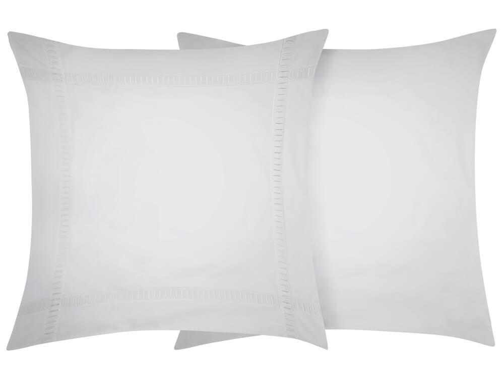 Taie d'oreiller percale lavée 100% coton Nuage blanc