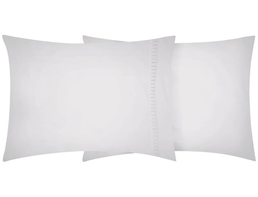 Taie d'oreiller percale lavée Nuage blanc