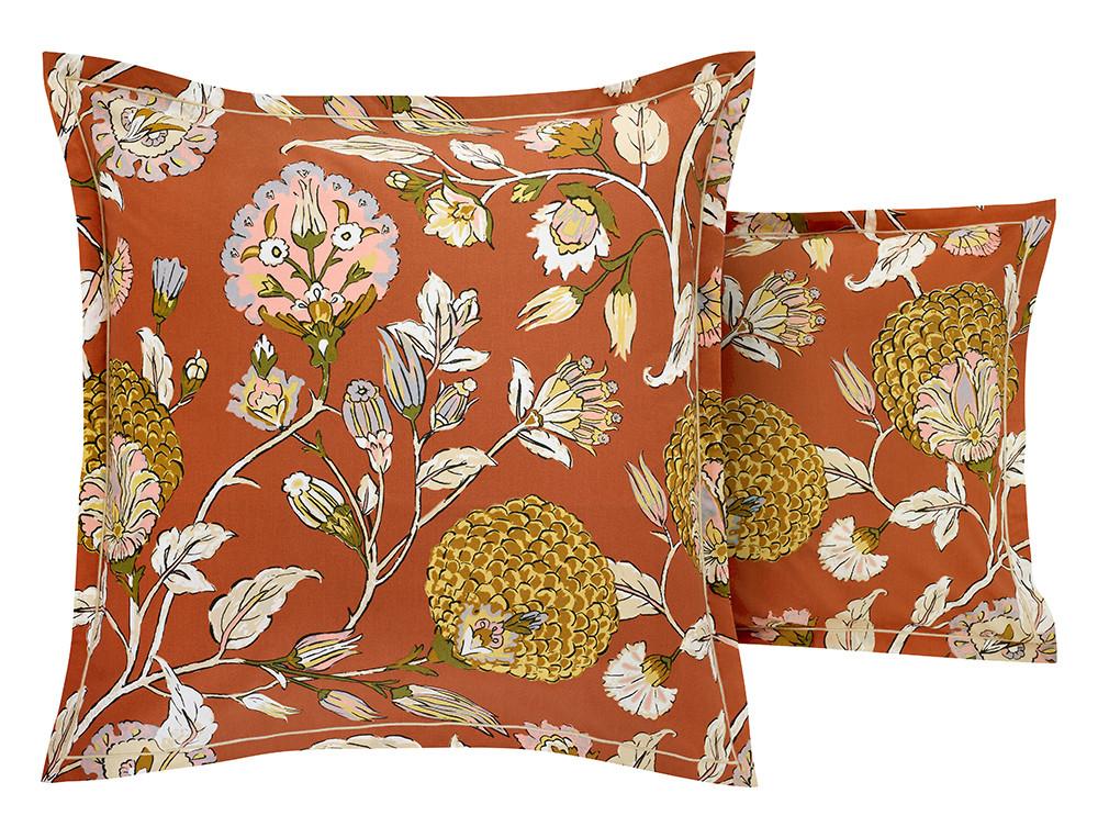 Taie d'oreiller percale coton imprimé floral Parade en fleurs