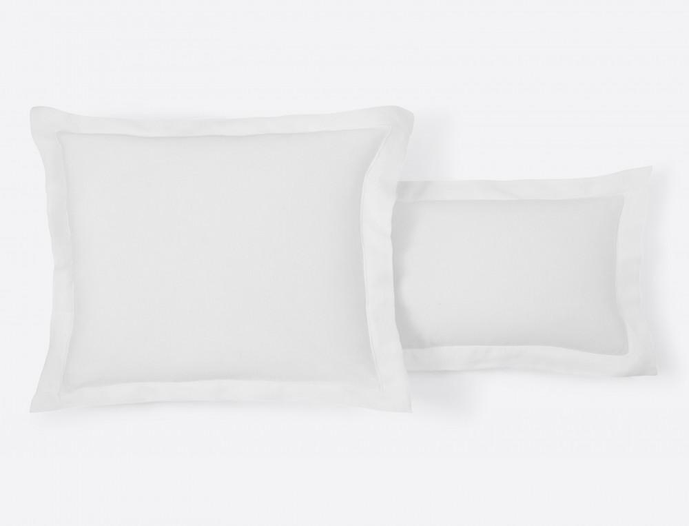 Taie d'oreiller 100% lin Pur fil de lin finition bourdon