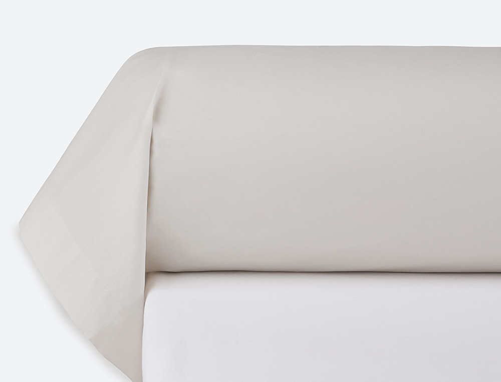 Taie de traversin percale unie écru Patch