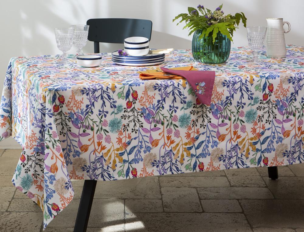 Tischdecke aus Baumwolle Bergamotte