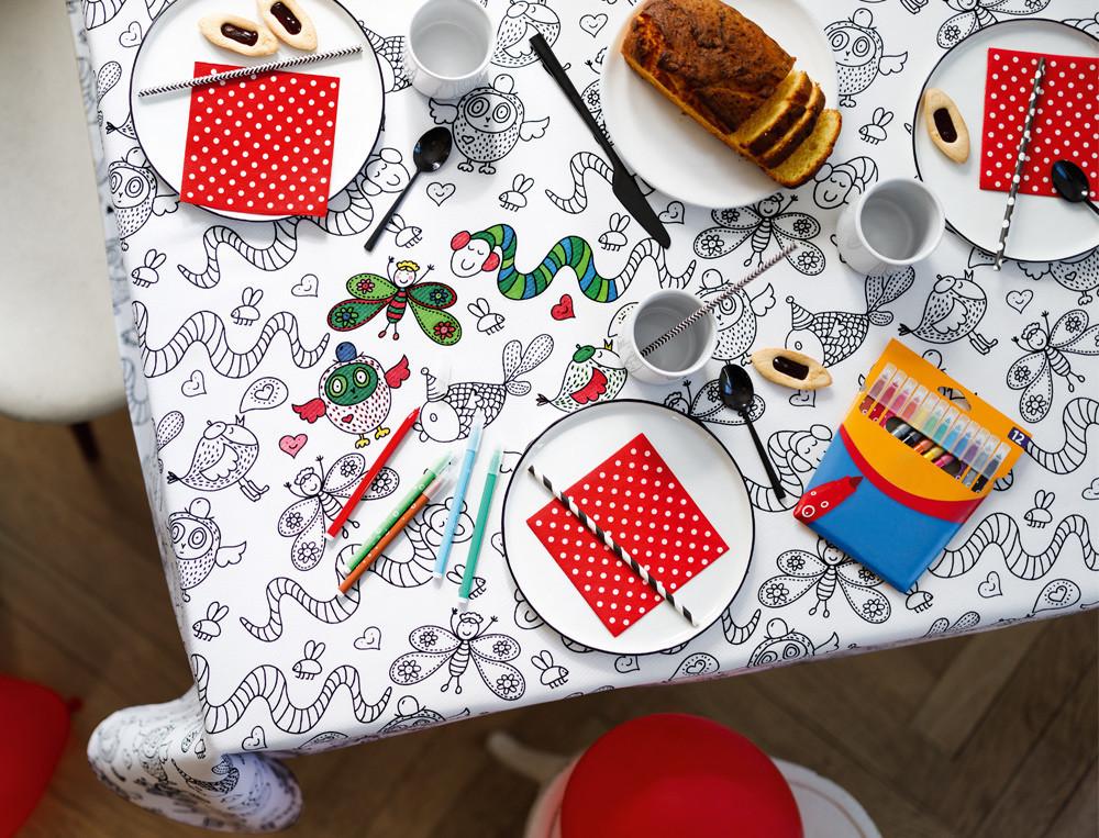 Tischdecke Kleiner Künstler Linvosges