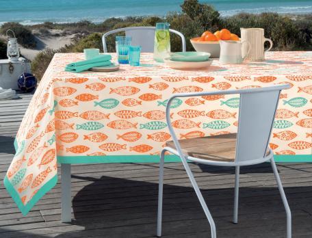 Tischdecke Meeresbrise Baumwolle Acryl-Beschichtung