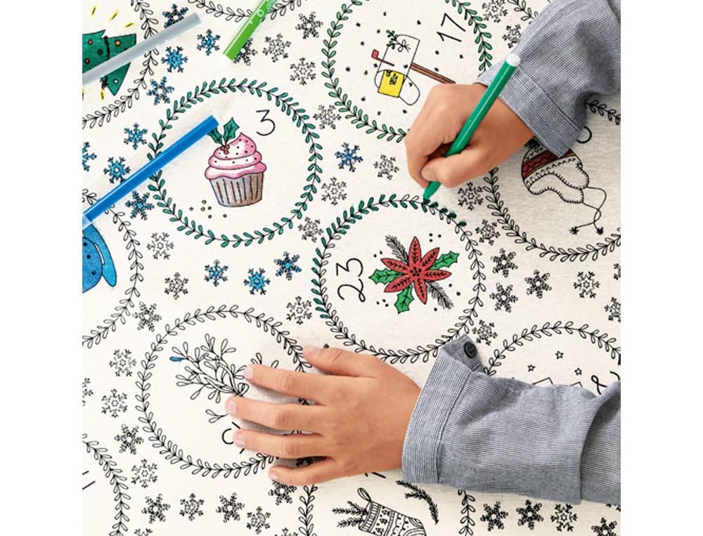 Tischdecke zum Ausmalen Adventskalender-Motiv Picasso