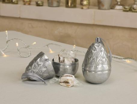 Deko-Zapfen Silberzapfen