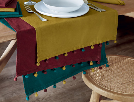 Tischläufer Weihnachtsmarkt Baumwolle Fleckschutz Linvosges