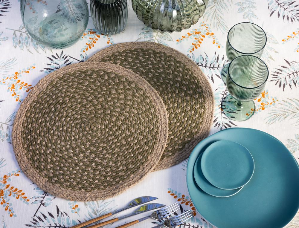 Tischsets geflochten Naturspiel