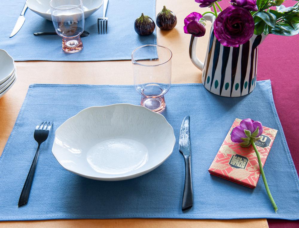 Tischsets einfarbig Tag für Tag Linvosges