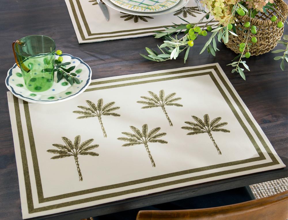 Tischsets mit Palmenmotiven Mallorca