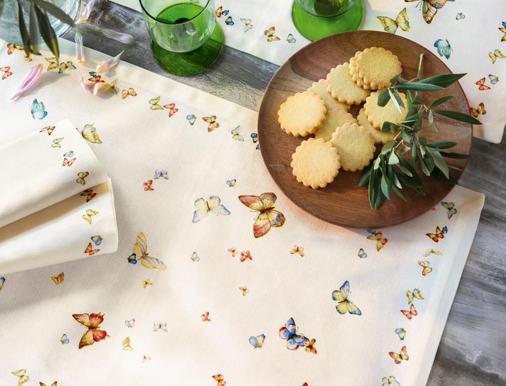 Tischsets Schmetterlingsmotiv Fleckschutz Tanz der Schmetterlinge