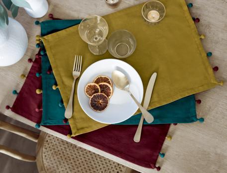 Tischsets Weihnachtsmarkt Baumwolle Linvosges
