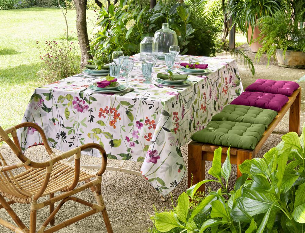 Tischwäsche Blütenmeer Baumwolle Fleckschutz Linvosges