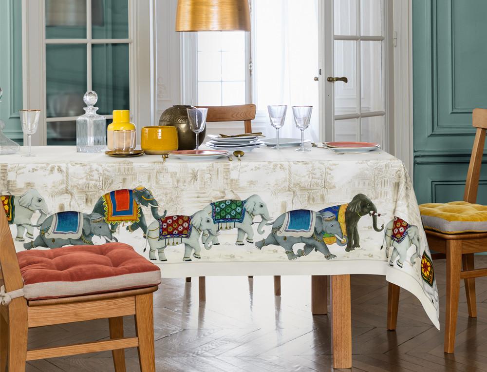 Tischwäsche Elefantastisch Baumwolle Fleckschutz Linvosges