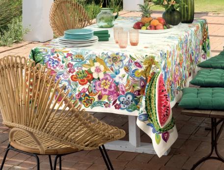 Tischwäsche Exotischer Marktstand
