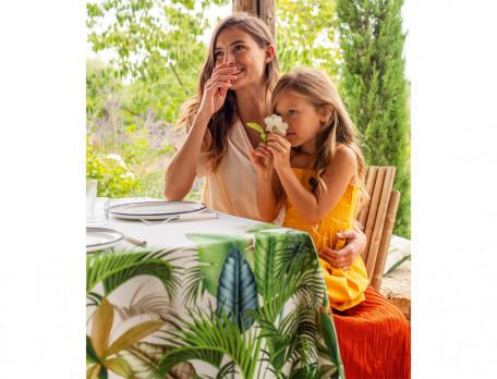 Tischwäsche im Grünen Baumwolle Linvosges