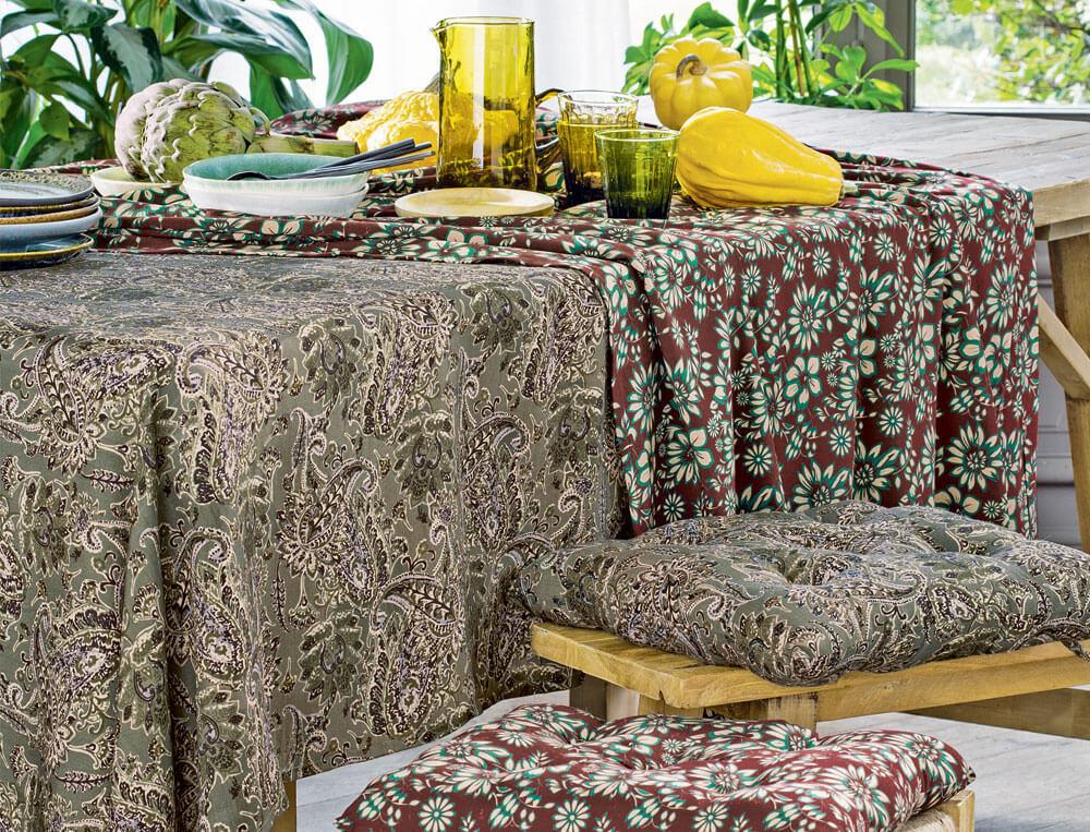 Tischwäsche Indischer Sommer Viskose Linvosges