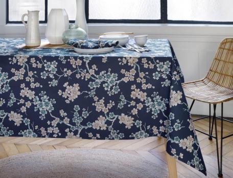 Tischwäsche Japanisches Blumenfest Baumwolle Linvosges