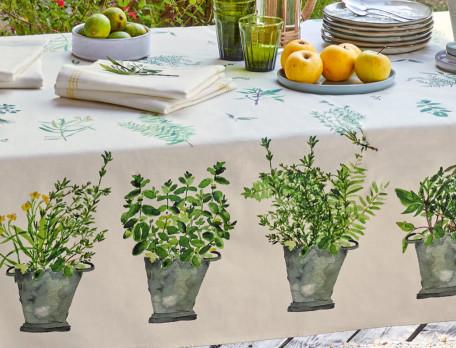 Tischwäsche Kräutergarten Baumwolle Linvosges