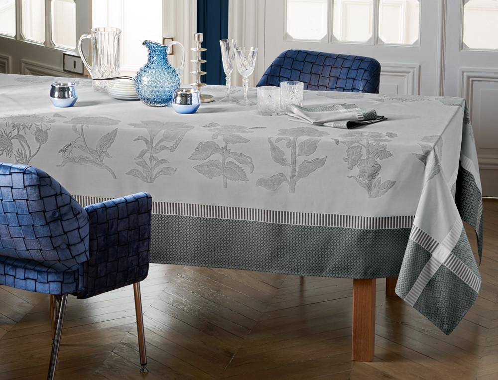 Tischwäsche Kristallblumen Baumwolle Fleckschutz Linvosges