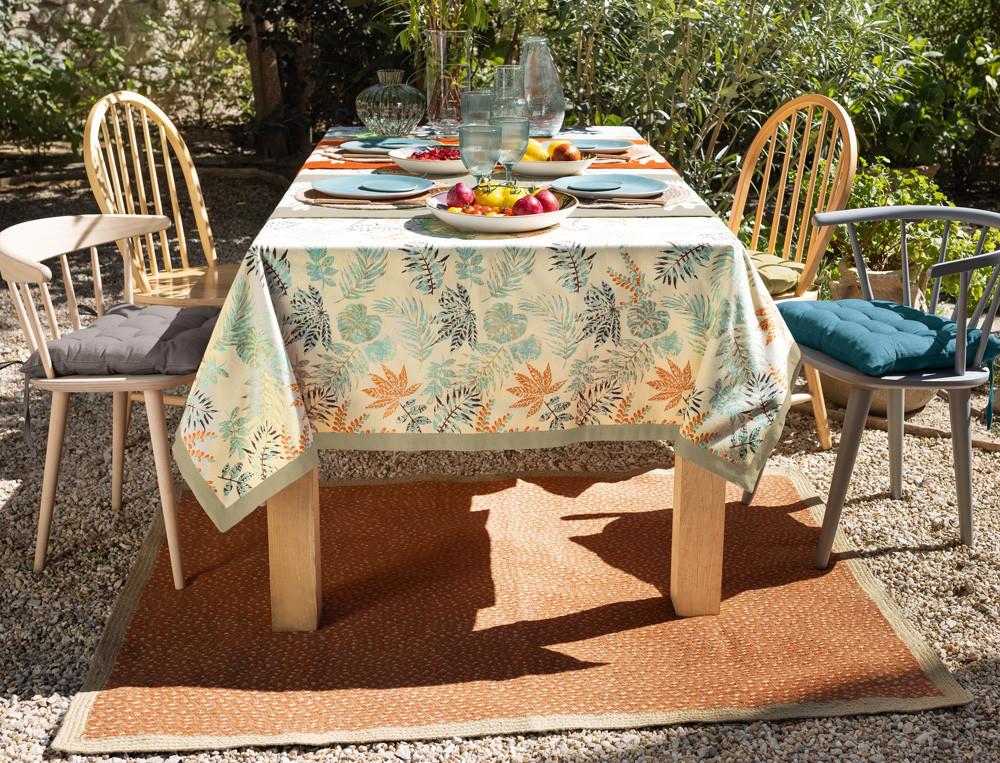Tischdecke Fleckschutz Blättermotiv Naturschauspiel