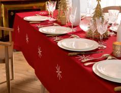 Tischwäsche Schneesterne Linvosges