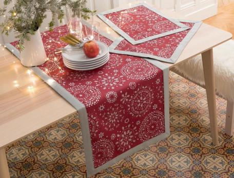 tischw sche silberflocken linvosges. Black Bedroom Furniture Sets. Home Design Ideas