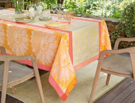 Tischwäsche Sonnenblume Baumwolle Linvosges