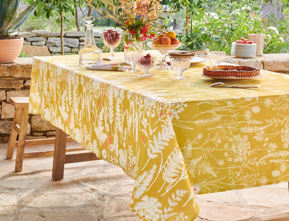 Tischwäsche Sonnenschein Baumwolle Fleckschutz Linvosges