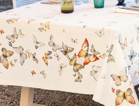 Tischdecke Schmetterlingsmotiv Fleckschutz Tanz der Schmetterlinge