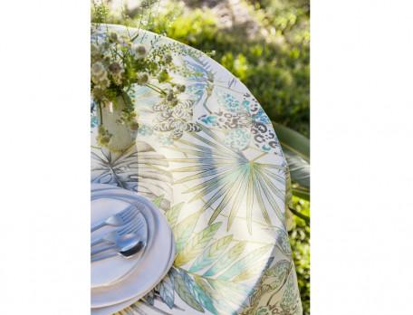 Tischwäsche Pflanzenmotiv Fleckschutz UV-Schutz Tropischer Garten