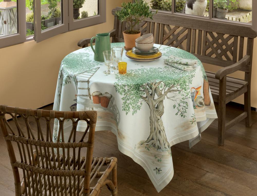 Tischwäsche Unter den Olivenbäumen Baumwolle