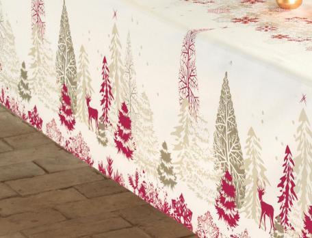 Tischwäsche Verschneite Weihnacht Linvosges baumwolle