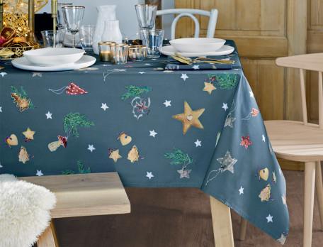 Tischwäsche Weihnachtsmarkt Baumwolle Linvosges