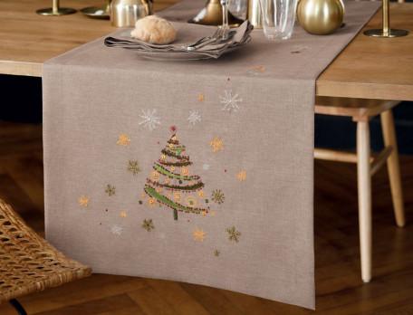 Tischwäsche Weihnachtszauber Fleckschutz Linvosges