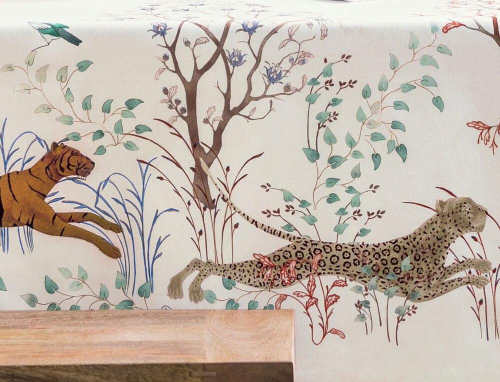 Tischwäsche Wildes Afrika Baumwolle Linvosges